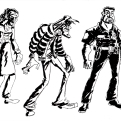 """Designs for characters of my comic """"Tunnel Vision"""""""