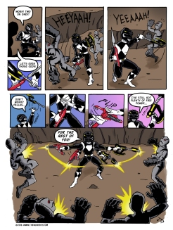 A power rangers fan comic