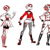 "Character designs for Jane from my comic ""The Wrong Girl"""