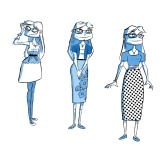 "Character designs for Mary from my comic ""The Wrong Girl"""