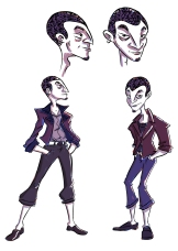 "Character designs for Vince from my comic ""The Wrong Girl"""