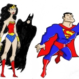 Wonder Woman, Batman, and Superman