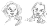 """Abbie and Ichabod from the show """"Sleepy Hollow"""""""