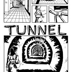 "Pages from my comic ""Tunnel Vision"""