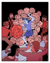Illustration on street harassment